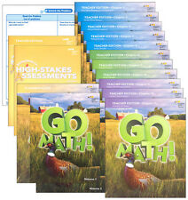 Grade 5 Go Math Homeschool Kit Teacher Editions 2015 5th Curriculum Package