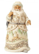 "Jim Shore Figur 4058737 ENESCO CHRISTMAS DEKORATION ""White Woodland Santa"""