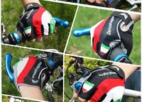 Guanti Ciclismo Mezze dita MTB Bicicletta Italia Traspiranti Gel Corsa
