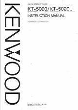 KENWOOD manuale di istruzioni user manual Owners Manual per KT - 5020/l