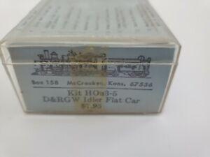 NEW - VINTAGE - Grandt Line Kit HOn3-5 67556 D&RGW Idler Flat Car Box 158