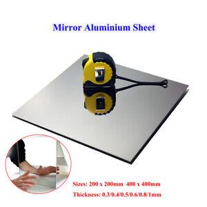 Mirror Aluminium Sheet Plate 200x200 / 400x400mm Alu Panel, 0.3mm-1mm Thickness