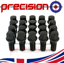 20 Black Chrome Wheel Nuts Bolts for Audi R8 with Aftermarket Alloys