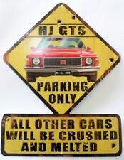 HOLDEN HJ GTS 1976 MUSCLE CAR PARKING ONLY, All Weather METAL SIGN 490 x 370