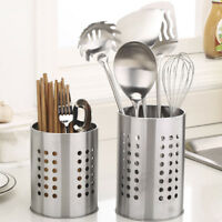 Kitchen Stainless Steel Utensil Cooking Spoon Tool Storage Chopstick Holder