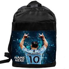 AGUERO Backpack School Bag Man CIty Sport Football Bag Personalised NL01