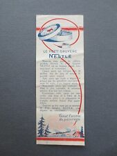 Vintage French BOOKMARK NESTLE Petit Gruyere Cheese Advertising Promotional OLD