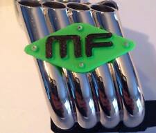 Axial SMT10 Scale Magnaflow Exhaust Header Plates - Green!