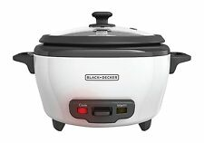 BLACK+DECKER RC506 6-Cup Cooked/3-Cup Uncooked Rice Cooker and Steamer, White