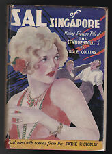 Dale Collins - Sal of Singapore (The Sentimentalists), 1927 RARE Original Jacket