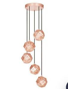 Tom Dixon Etch Copper Mini Chandelier - RARE