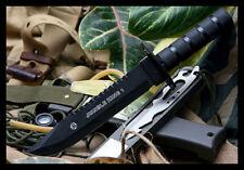 Survival Knife Gürtelmesser mit Überlebensausrüstung Hunting  Messer Jungle King