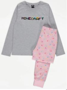 Girls Minecraft George Pyjamas Long Sleeve Top & Bottoms