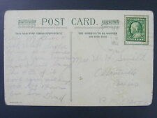 Albertville Wisconsin WI Chippewa CO 1912 4-Bar Cancel DPO 1892-1934 Postcard