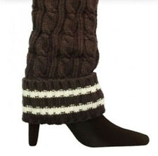 Gray White Stripe Stripes Athletic Style Warm Cozy Leg Warmer Sports Knee High
