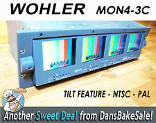 Wohler Panorama DTV MON4-3C Quad Monitor Tilt Screen PAL NTSC Tested Works Great