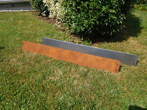 Corten Steel Lawn Edging Metal Fence Flexible Border 20 meter a´ 14 cm high