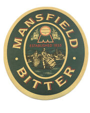 Mansfield Bitter Ale Beer Coaster 2 Sided Bar Man Cave Never Used NOS