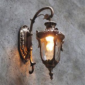 Outdoor Wall Lights Garden Wall Lamp Bar Vintage Lighting Home Glass Wall Sconce