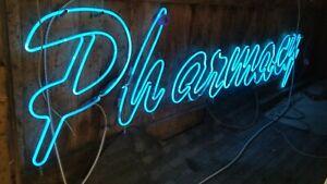 Vintage NEON PHARMACY Sign Over 10 feetlong !