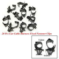 20 Pcs Car Wire Cable Fixed Clips Corrugated Pipe Tie Wrap Cable Clamp Fasteners