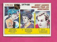 1980-81 OPC # 162 OILERS WAYNE GRETZKY ASSIST  LEADERS EX-MT CARD (INV# D0830)