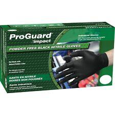 ProGuard Large Black Nitrile Powder-Free Disposable Gloves 100/Box