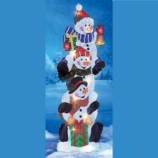 Yard Christmas Snowman Stake Outdoor Xmas Decoration Garden Lighted Ornaments