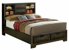 Furniture of America Nikomedes Queen Bookcase Storage Bed in Gray RETAIL $1,414