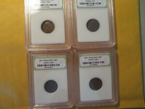 1950 S, 1951 S, 1952 S, 1953 S Lincoln Wheat Cents, Slabbed #25