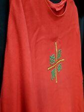 Casel rot gotisch Messgewand modern sakral Kirche + Kreuz gold vestment  + Stola
