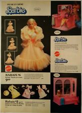 1986 Vintage PAPER PRINT AD BARBIE doll furniture clothing accessories Rockers