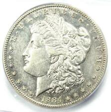 1884-S Morgan Silver Dollar $1 Coin - Certified ICG AU50 - Rare Date in AU50