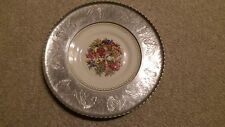 Triumph Limoges Usa Wrought Farberware Imperial Victorian Encased Plate 22K Gold