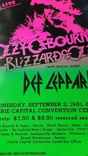 """Ozzy Osbourne & Def Leppard 9/2/1981 Promo Poster14""""x22"""" WHILE SUPPLIES LAST!"""