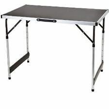 Folding Portable Camping Picnic Party Dining Table Aluminum Black