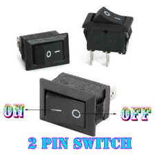 KCD1-11 Snap in Mini Rocker Switch 250 V 3 A 2 Pin on/off I/O SPST