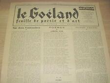 LE GOELAND N°87 1948 PAUL GAUGUIN A LA RADIO MORT DE GEORGES BERNANOS