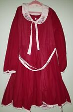 Girls Wdw Well Dressed Wolf cranberry red Mystery dress Size 12 with collar