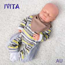 IVITA 18'' Silicone Reborn Baby Girl Eyes Closed Realistic Sleeping Doll Infant
