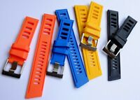 RUBBER DIVE WATCH STRAP/BAND FOR OMEGA/ROLEX SWISS WATCHES VINTAGE FREE POST