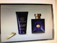 DYLAN BLUE VERSACE 3 Pieces Gift Set: 3.4 EDT Spray + 3.4 Gel ,Money Clip