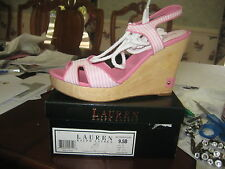 Lauren Ralph Lauren Lex Wedge Platform Sandals Sz 9.5 B UK 8 Eur 41 NIB