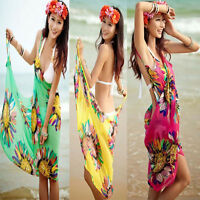 Women Summer Fashion Chiffon Wrap Dress Sarong Beach Cover-up Bikini Wrap Skirt