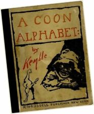 E W Kemble A COON ALPHABET a Book about Children (in 1898) Black Americana STUDY