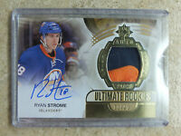 13-14 UD Ultimate Autographed Rookies Patch #85 RC RYAN STROME /25