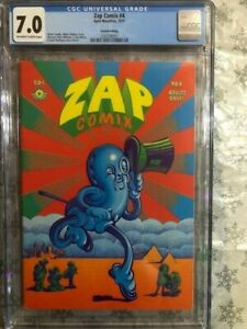 ZAP COMIX #4 2nd Print 1971 Apex Novelties CGC 7.0 FN/VF Robert Crumb Undergound