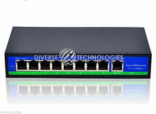 24V Passive 120W 9 Ports 8 PoE Injector Power Over Ethernet Switch 4,5+/7,8-