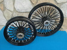 "21"" & 16X3.5"" BLACK FATTY FAT 40 SPOKE MAMMOTH WHEELS HARLEY TOURING  2002-07"