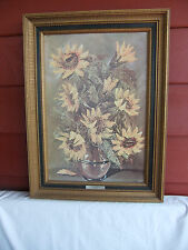 Sunflowers by L. Ritter Print Home Interiors Vintage